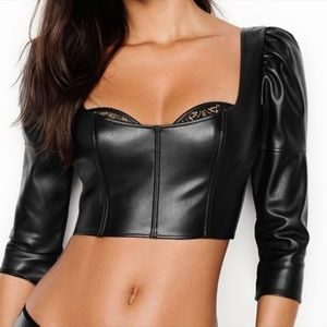 Victoria's Secret Intimates & Sleepwear - NWT Victoria's Secret Faux Leather Bra Top